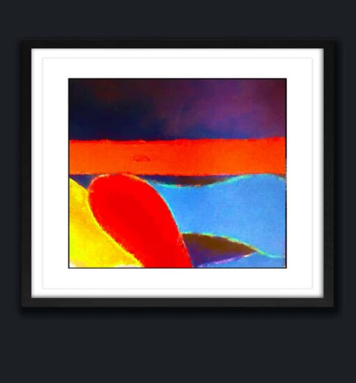 Abstract art 3 Block Color