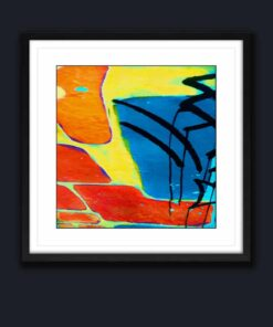 abstract art 2 block color