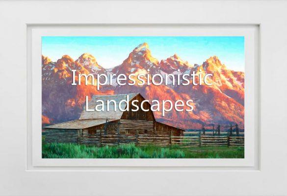 Impressionistic Landscapes Photographs and Art for sale