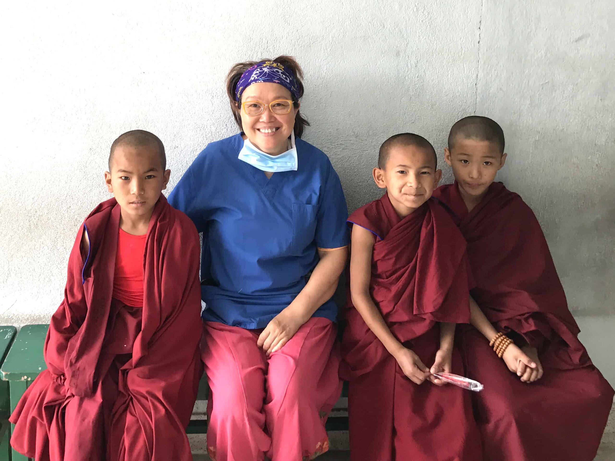 PROJECT YETI- NEPAL DENTAL AID MISSION-DENTAL VOLUNTEERING WORKS KOPAN MONASTERY, NEPAL -DR ZENAIDY CASTRO DENTIST MELBOURNE