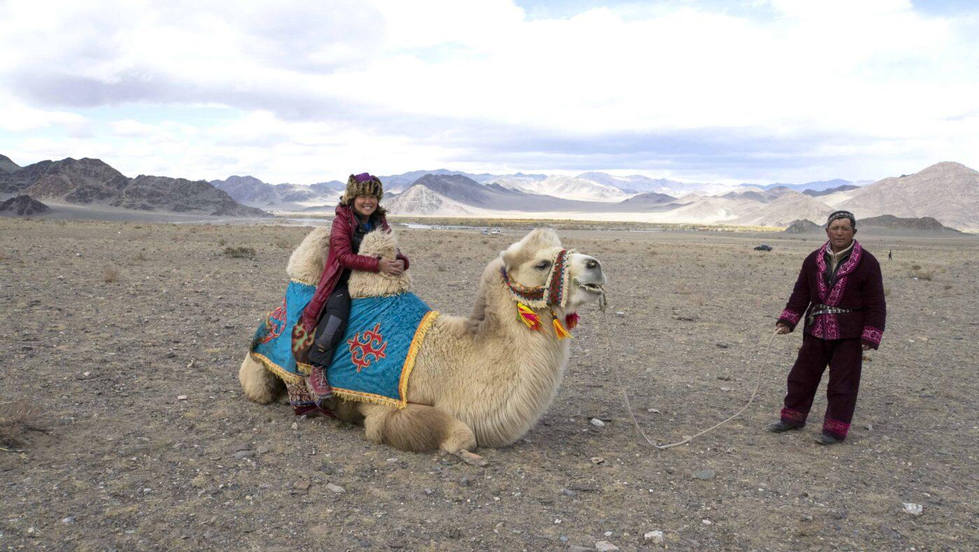 Dr Zenaidy Castri in CAMEL RIDE Mongolia 1