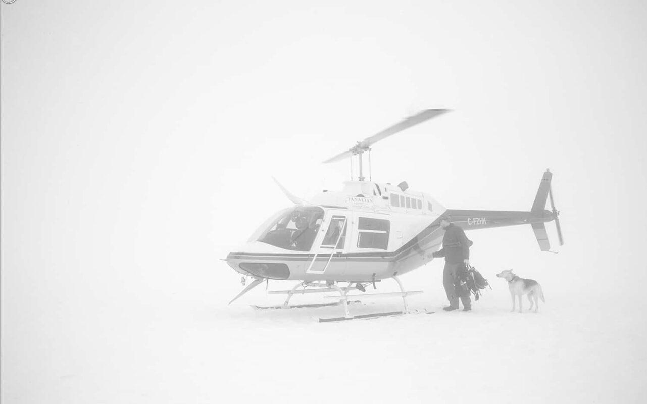 Glacier Dog sled Alaska Black and White Photography 3