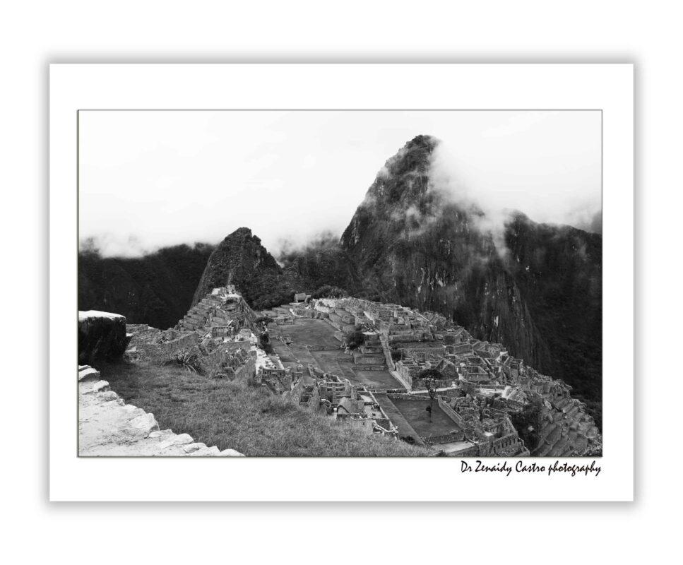 Machu Picchu Citadel Black and White Photography DR ZENAIDY CASTRO 2