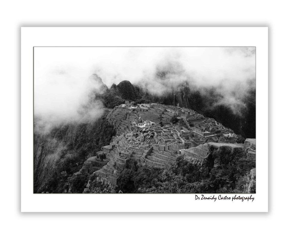 Machu Picchu Citadel Black and White Photography DR ZENAIDY CASTRO 3