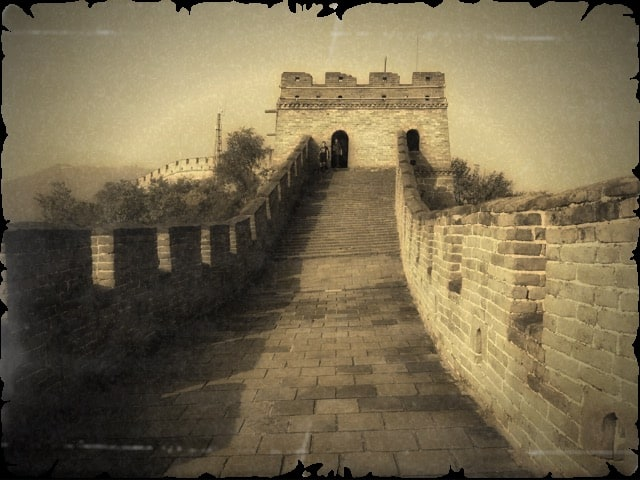 SEPIA PHOTOGRAPHY of great wall of china ART for Chinese Investor 1