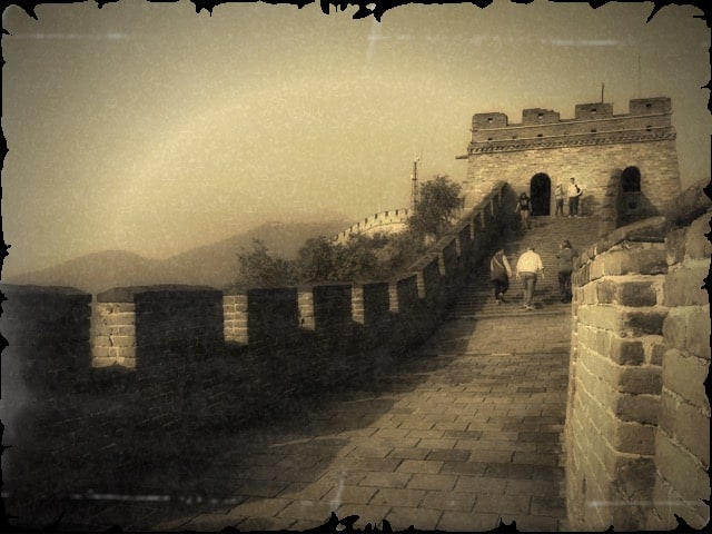 SEPIA PHOTOGRAPHY of great wall of china ART for Chinese Investor 2