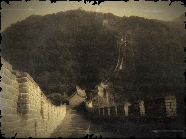 SEPIA PHOTOGRAPHY of great wall of china ART for Chinese Investor 5